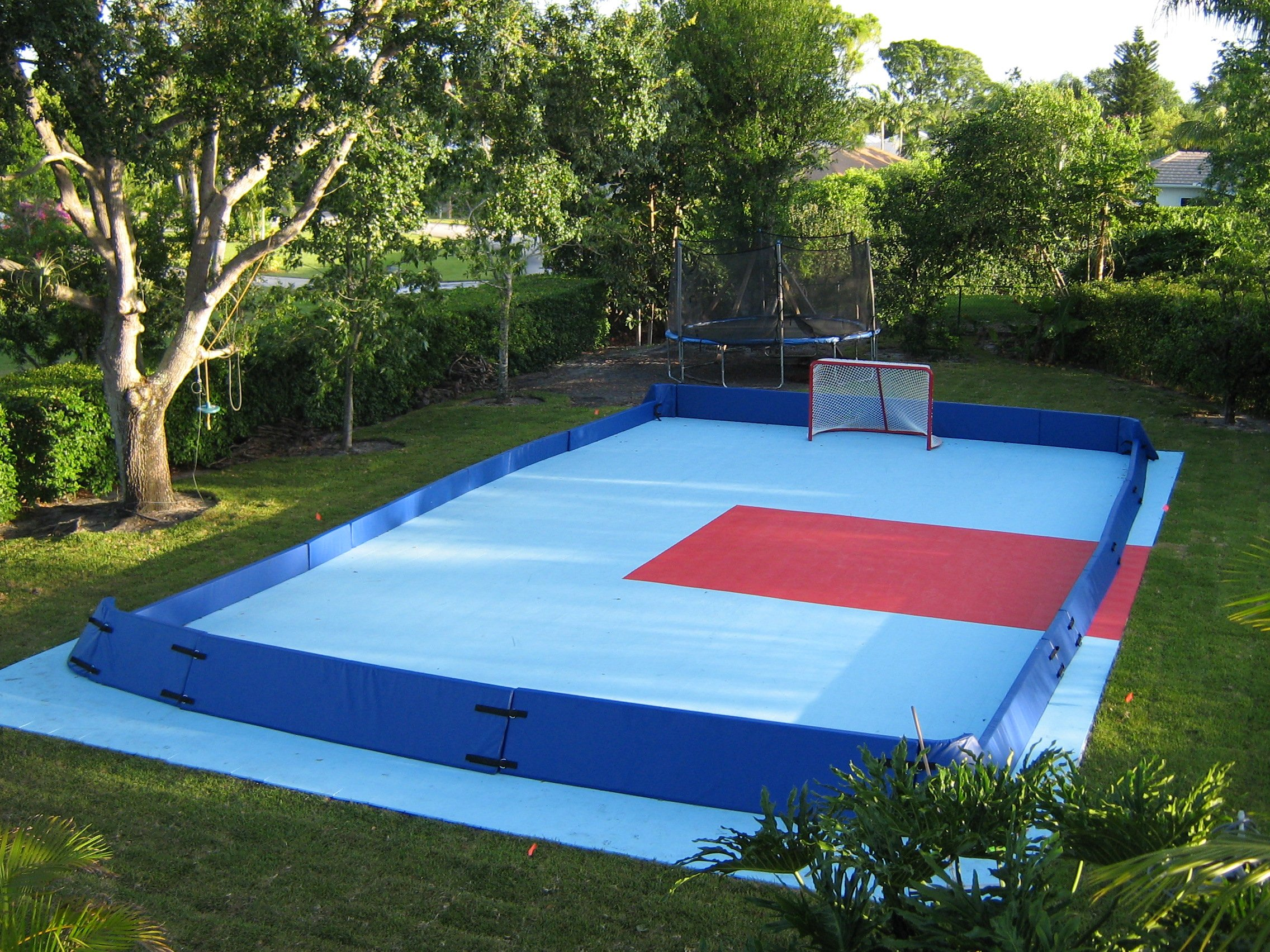Portable Boundary System Sport Resource Group - Backyard roller hockey rink