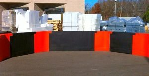 Black and orange gaga pit